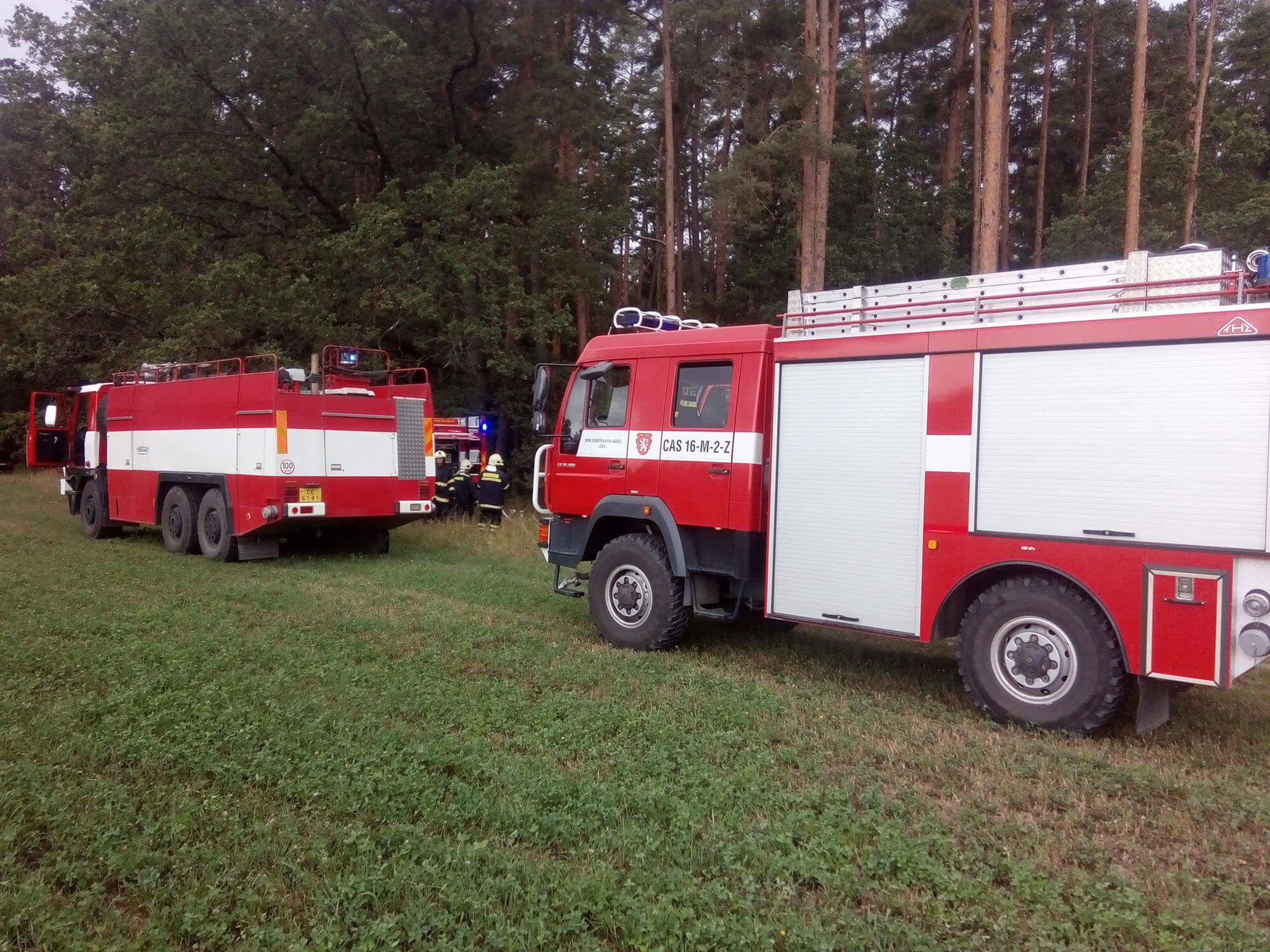 Požár v lese Slověnice