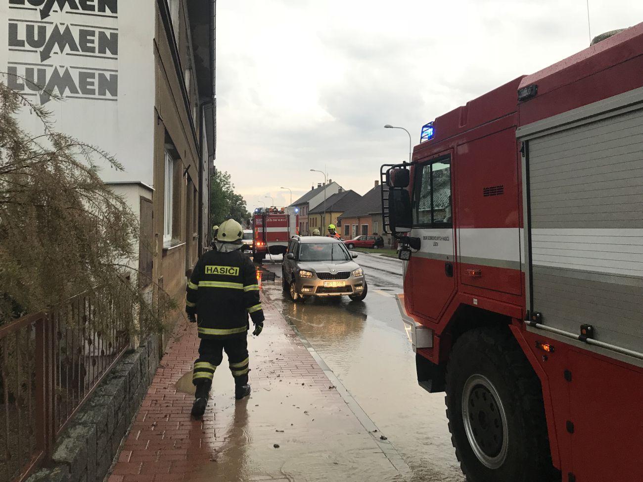 Bleskové záplavy zasáhly 24. května 2018 Lišov u Českých Budějovic