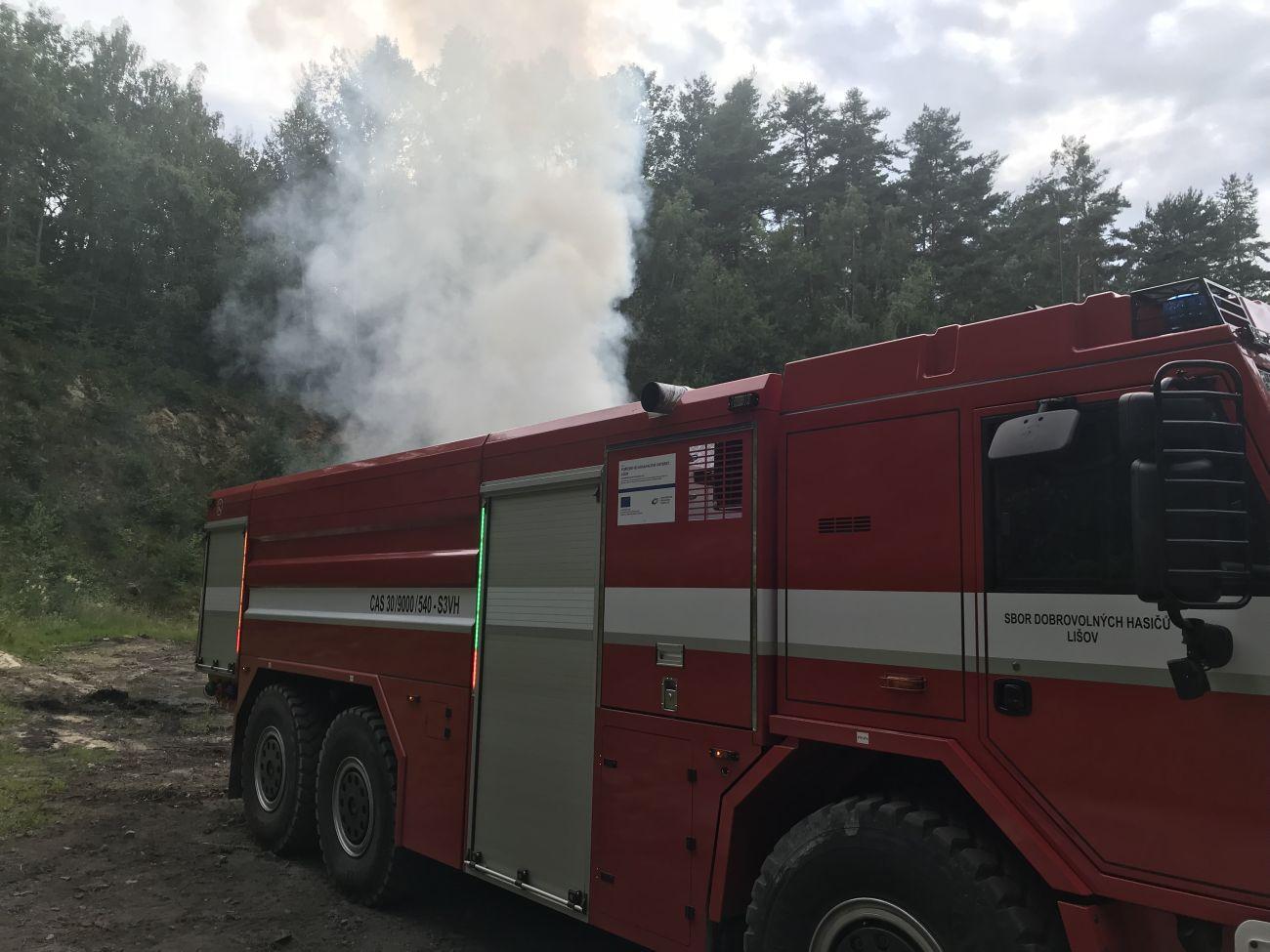 Požár Čánkov (dohašování pálení)