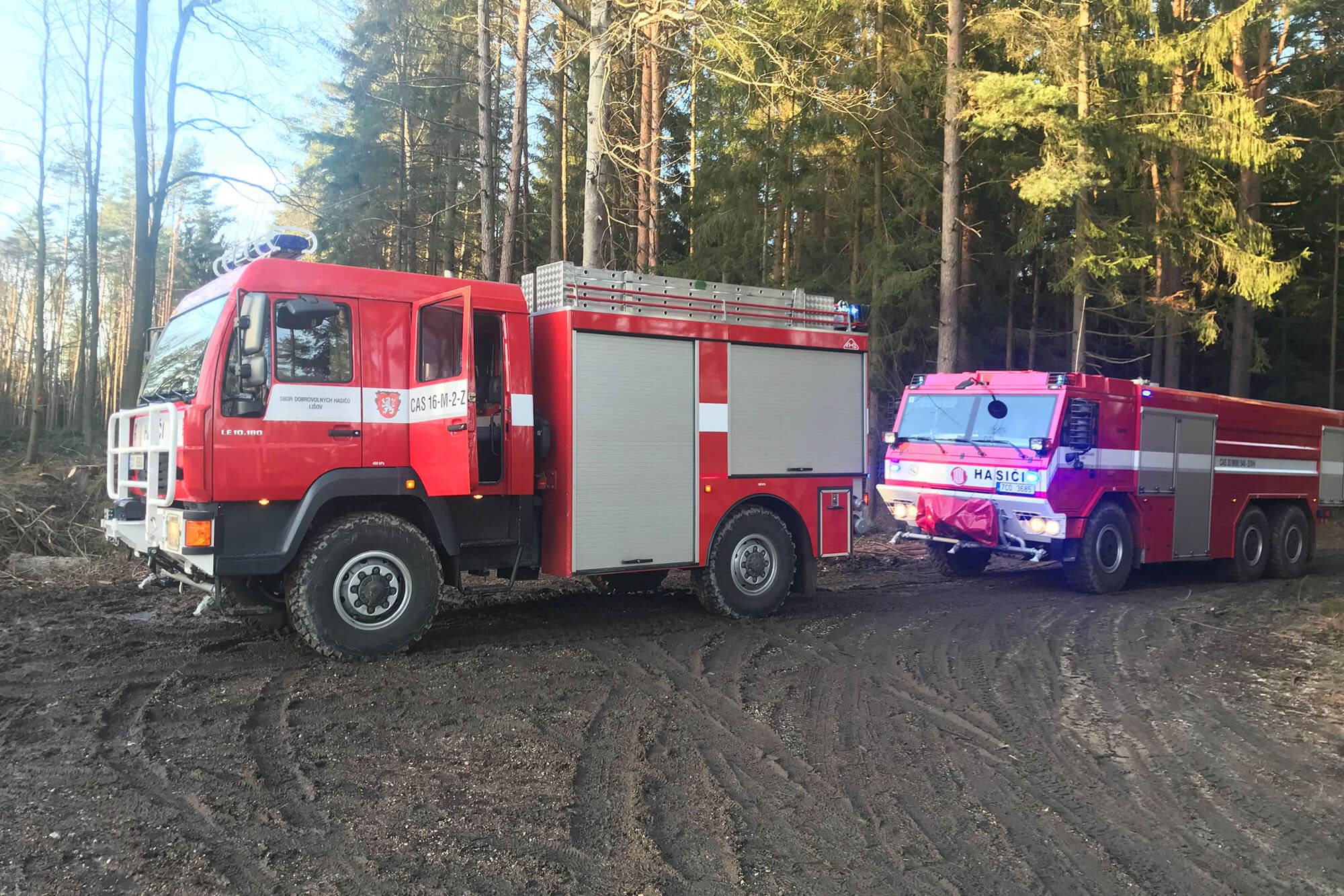 Lesní požár Velechvín