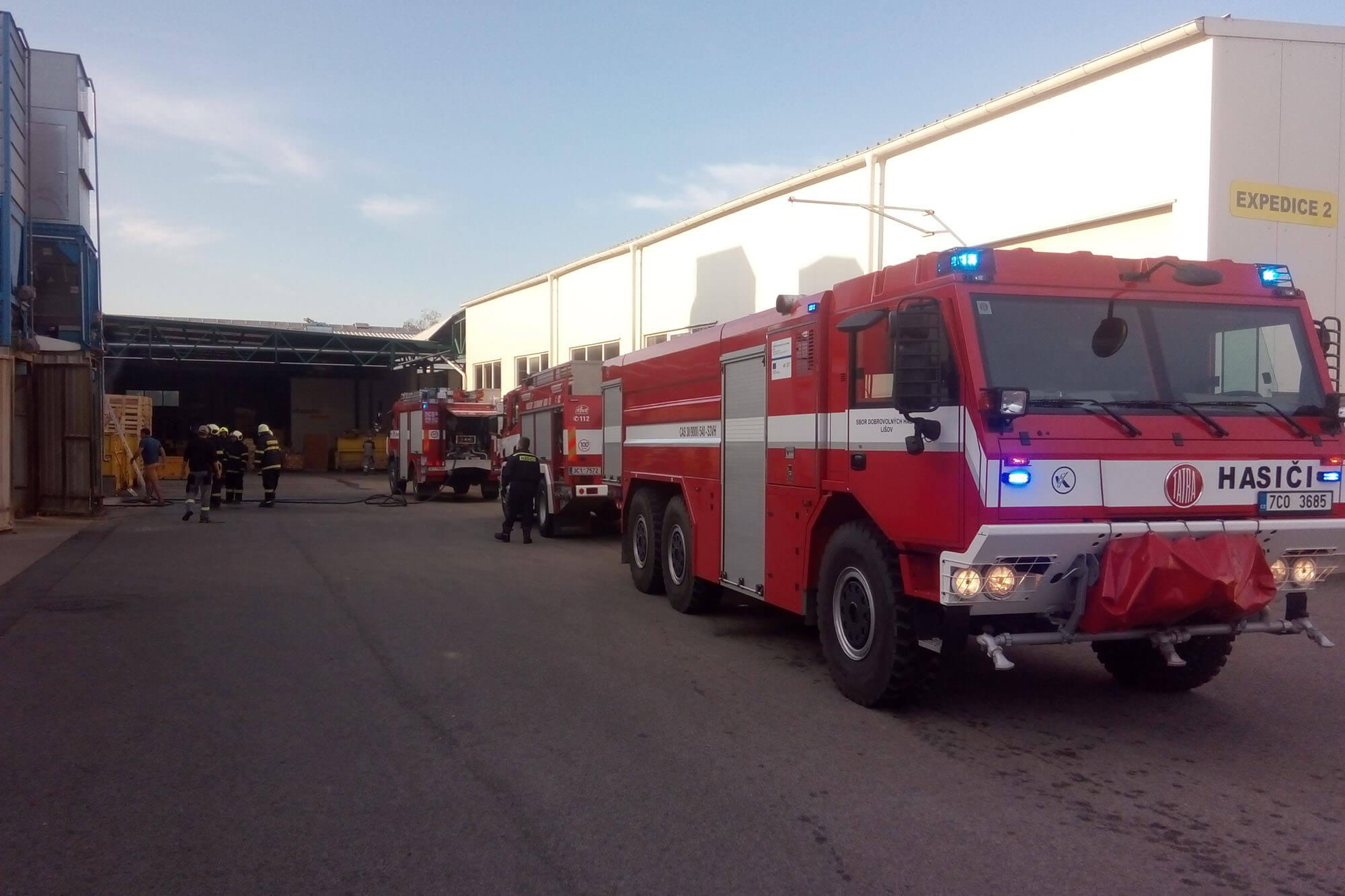Požár silo Sosní Steinbauer