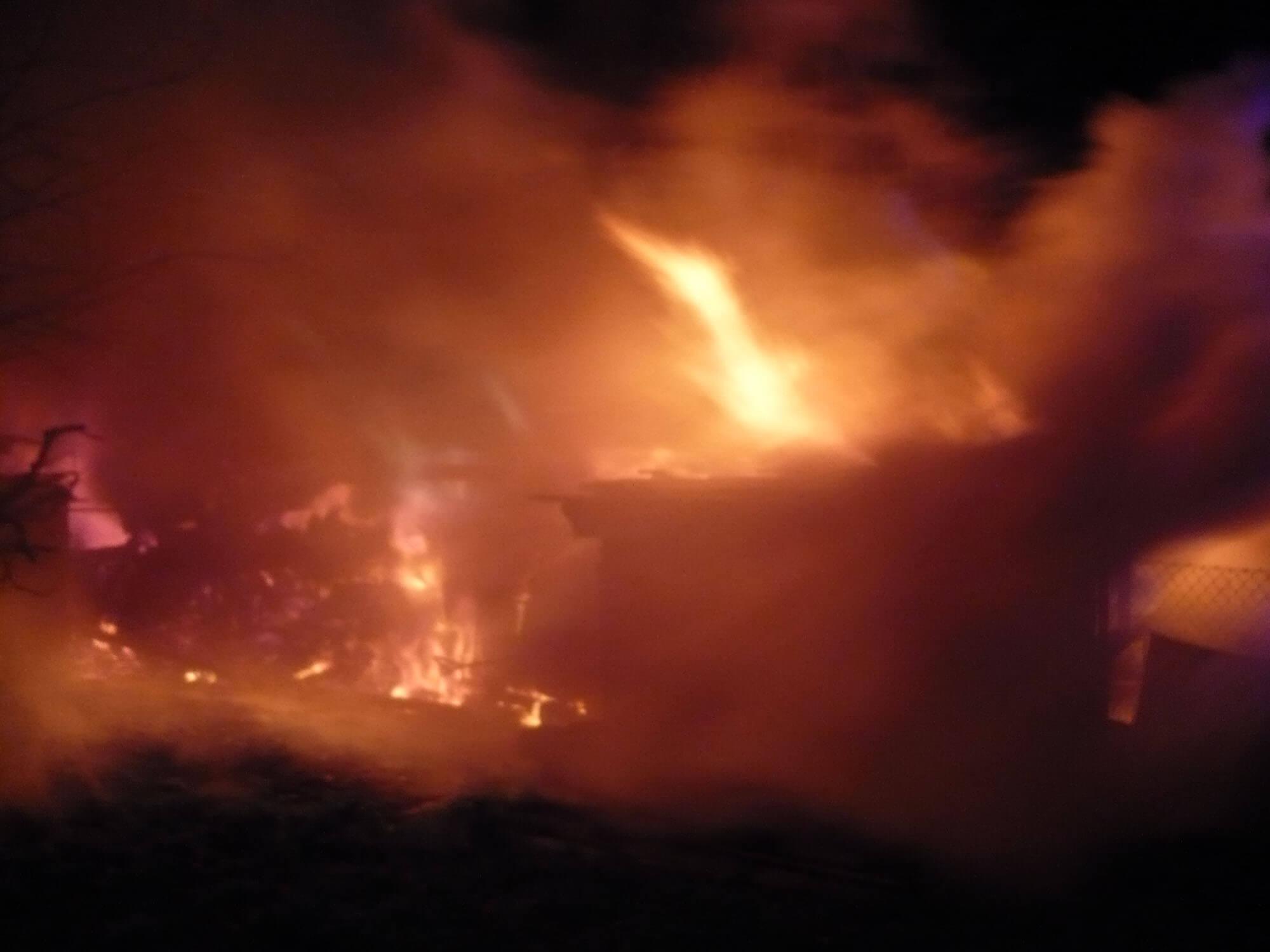 Požár kůlny Hvozdec