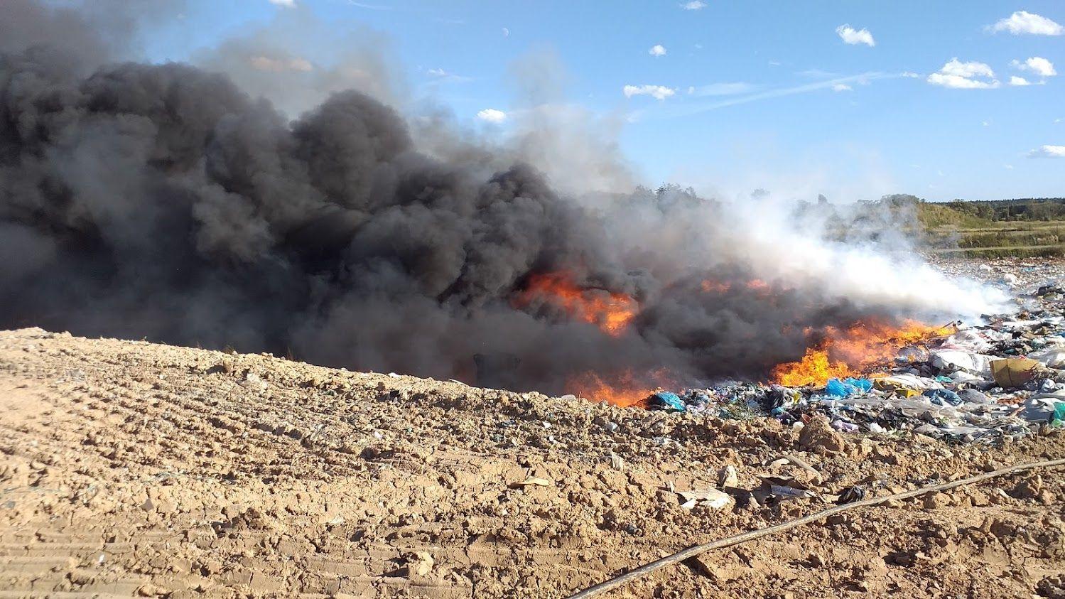 Další rozsáhlý požár skládky v Lišově