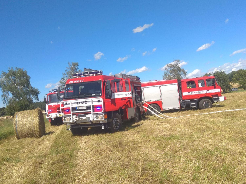 Požár pole Kolný